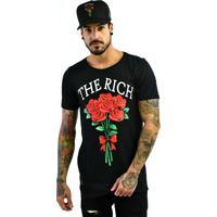 Combo: Camiseta Rich Young Buquê Preta Boné Buquê Preto