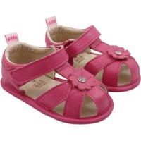 Sandália Infantil Couro Catz Calçados Bonnie Feminina - Feminino-Pink