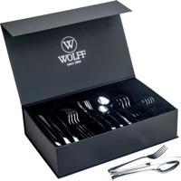 Faqueiro Aço Inox Berna C/Gift Box Wolff - 48 Peças