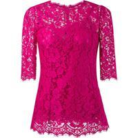 Dolce & Gabbana Blusa De Renda - Rosa