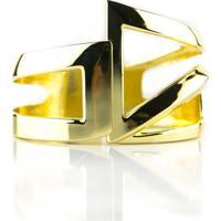 Pulseira Bracelete Le Claire Geometrico Dourado
