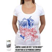 Samurai Dragão - Camiseta Clássica Feminina