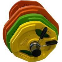 Kit De Halteres Com Anilhas 20 Kgs Wct Fitness - Unissex