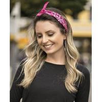 Bandana Atacado Bijuterias De Tecido Feminina - Feminino-Rosa