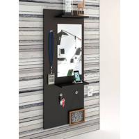 Painel Decorativo Vertical C/ Espelho Style – Estilare - Preto