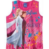 Blusa Rosa Claro Frozen® Menina Malwee Kids