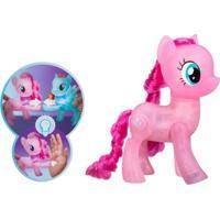 Figura My Little Pony Com Luz - 20 Cm - Amigas Brilhantes - Pinkie Pie - Hasbro - Unissex