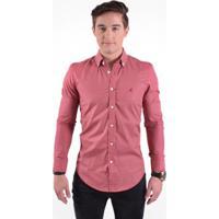 ... Camisa Social Masculina Slim Xadrez - Masculino-Vermelho 2b1449427e820
