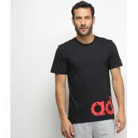 Camiseta Adidas Grfx Lnr T 2 Masculina - Masculino-Preto