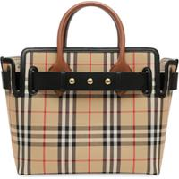 Burberry Pochete The Small Com Vintage Check - Marrom