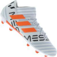 Chuteira De Campo Adidas Nemeziz Messi 17.3 Fg - Adulto - Branco Cinza b3deefd989b54