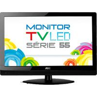 "Tv Monitor Aoc Led 23"" Widescreen Full Hd T2355We - Conversor Digital Integrado - Entrada Hdmi"