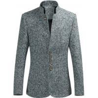 Blazer Masculino Style Gola Alta Slim - Cinza