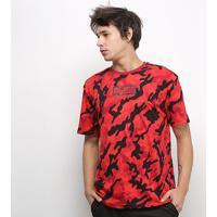 Camiseta Puma Rebel Camo Masculina - Masculino-Vermelho+Preto