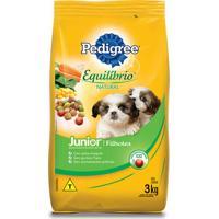 Ração Para Cães Junior/Filhotes Pedigree Equilíbrio Natural 3Kg