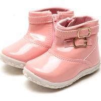 Bota Tricae Infantil Fivela Rosa