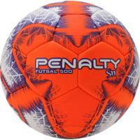 6685584577 Bola De Futsal Penalty S11 500 R5 Ix - Branco Laranja