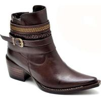 Bota Top Franca Shoes Country - Feminino-Marrom