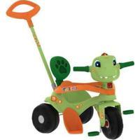 Triciclo Infantil Tonkinha Dino Com Empurrador - Unissex-Verde