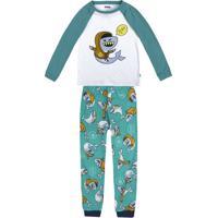 Pijama Infantil Menino Xadrez Que Brilha No Escuro