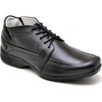 Sapato Gh Calcados Cadarco Conforto Masculino - Masculino-Preto