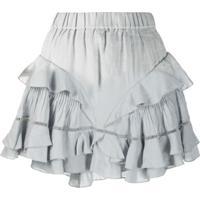 Isabel Marant Étoile Alikaya Frilled Skirt - Cinza