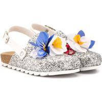 Monnalisa Sapato Com Brilho - Prateado