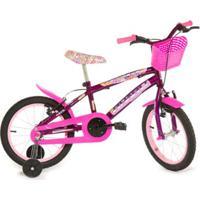 Bicicleta Infantil Aro 16 Rharu Tech Flower - Feminino