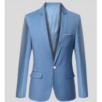 Blazer Masculino Sólido Elegante - Azul Claro