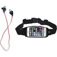 Kit Fone De Ouvido Xtrad Bluetooth Sem Fio + Pochete Running - Unissex