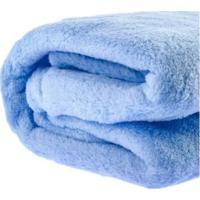 Manta Cobertor Bebe Infantil Microfibra 90X110Cm Azul Claro - Kanui