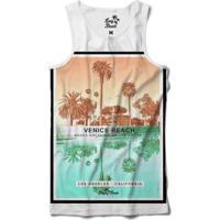 Camiseta Regata Coleção Praias Venice Beach La Sublimada Masculina - Masculino-Branco