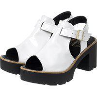 Sandália Open Boot Tratorado Branco Verniz