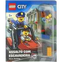 Livro Infantil - Lego City - Assalto Com Escavadeira - Happy Books