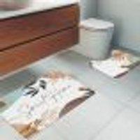 Jogo Tapetes Para Banheiro 2 Peças Sweet Home Único