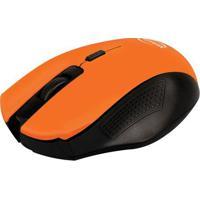 Mouse Sem Fio Citrus- Laranja & Preto- 3,5X6X10,5Cm