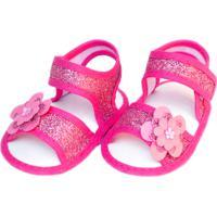 Sandália Brilho Sapatinhos Baby Pink