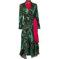 F.R.S For Restless Sleepers Vestido Kimono Estampado - Green