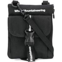White Mountaineering Bolsa Tiracolo Com Estampa De Logo - Preto