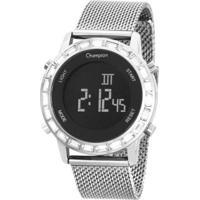 Relógio Champion Digital Led Ch48117T Feminino - Feminino-Prata
