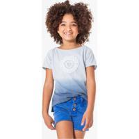 Blusa Infantil Aplicação Renascença Reserva Mini Feminina - Feminino-Azul Claro