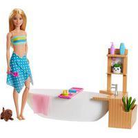 Boneca Barbie E Acessórios - Banho De Espuma - Mattel Gjn32
