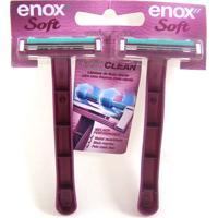Aparelho De Barbear Enox Feminino Soft Com 2 Unidades
