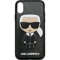 Karl Lagerfeld Capa Para Iphone 'Karl Ikonik' - Preto