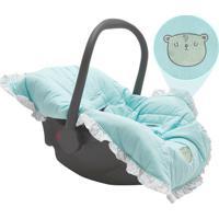 Capa Para Beb㪠Conforto Ursinho- Azul Claro & Brancapapi