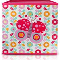 Caixa Organizadora De Brinquedos E Roupas Infantil Jacki Design Dobrável Rosa