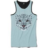 Regata Bsc Cara De Leopardo Branco Masculina - Masculino-Azul