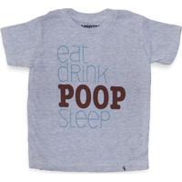 Eat Drink Poop Sleep - Camiseta Clássica Infantil