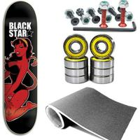 Kit Shape Black Star Diaba 8.0 Com Lixa, Parafuso - Unissex