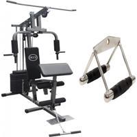 Estação De Musculação Com 80Kg Aparelho Ginástica Academia Puxador - Wct Fitness 1001103